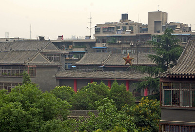 Atop the wall of the inner city of Xian, China